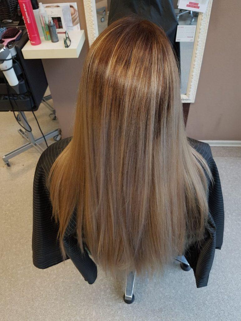 Balayage mit braun und blondt nen friseur kosmetik eg charmant - Balayage braun blond ...