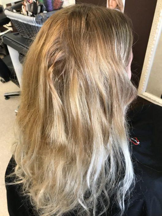 Zu blond braun von Kurze Haare