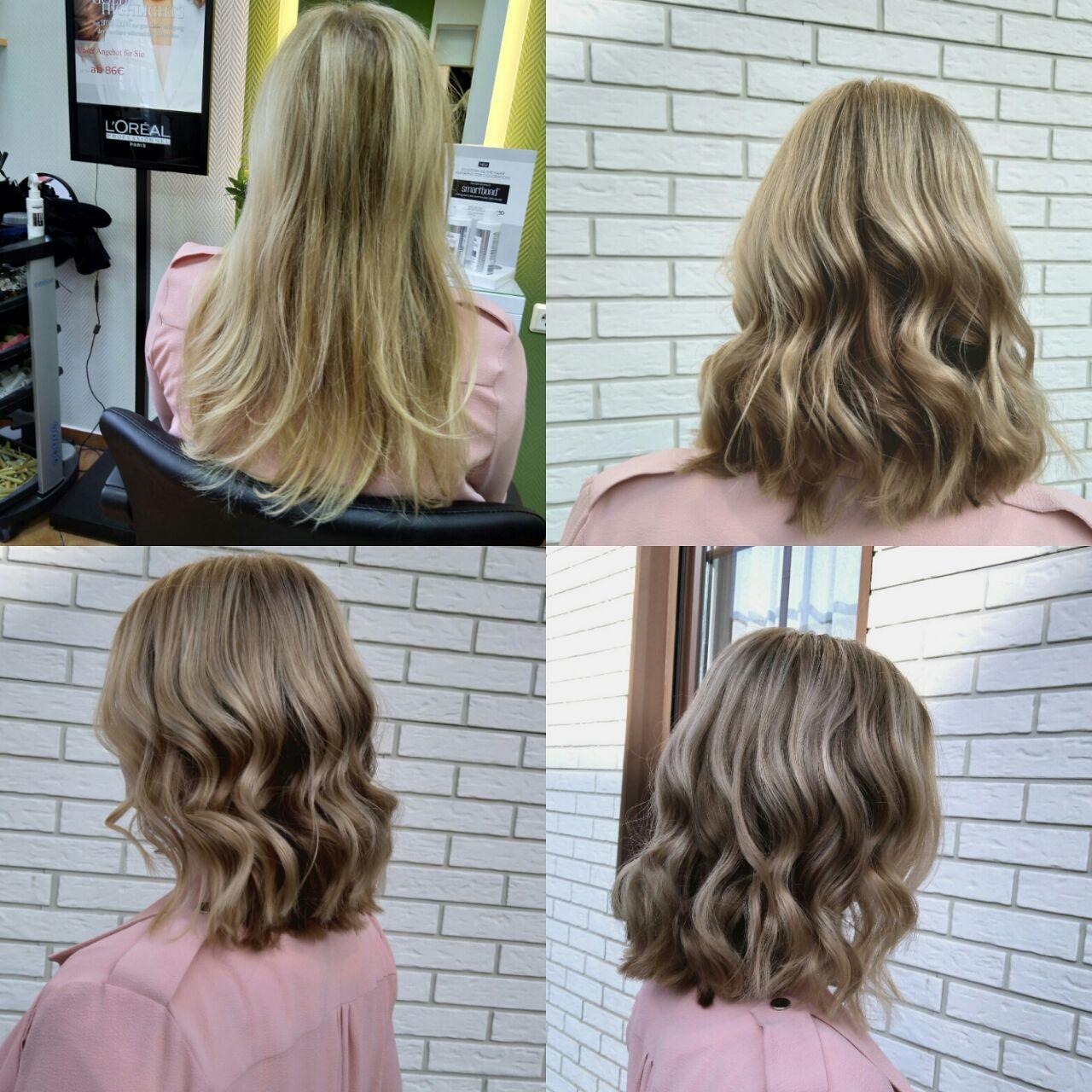 Lange haare long bob vorher nachher